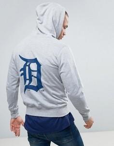 Худи с принтом на спине Majestic Detroit Tigers - Серый