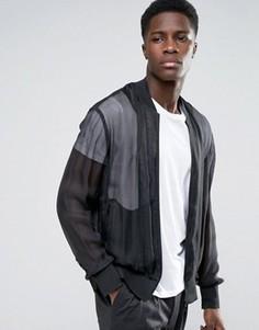 Куртка-бомбер Weekday Press Benjamin - Черный
