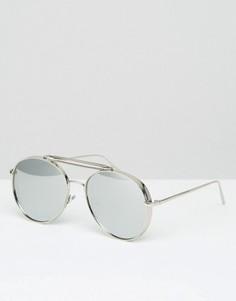Солнцезащитные очки-авиаторы Jeepers Peepers - Серебряный