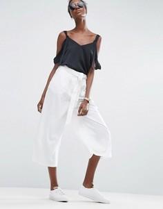 Льняные юбка-брюки ASOS - Белый