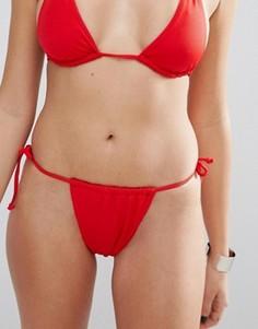 Плавки бикини с завязками Missguided - Красный
