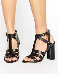 Босоножки на каблуке с ремешками ALDO - Черный