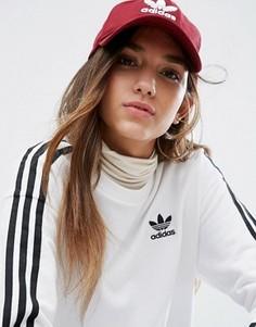 Бордовая кепка с логотипом adidas - Красный