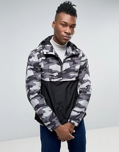 Узкая куртка с капюшоном и камуфляжным принтом Timberland - Черный