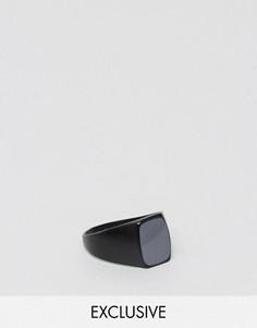 Черное кольцо из искусственного камня DesignB London - Черный