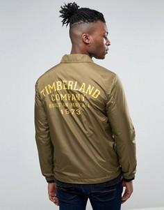 Узкая спортивная куртка с логотипом на спине Timberland - Зеленый