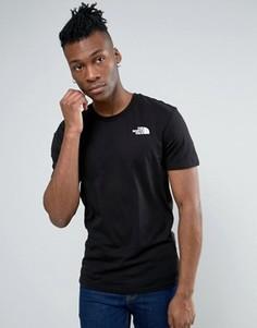 Черная футболка с логотипом на груди The North Face - Черный
