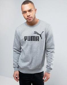 Серый свитшот с круглым вырезом Puma ESS No.1 838252 03 - Серый