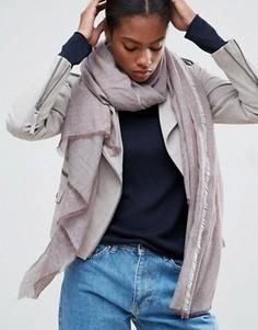Легкий однотонный шарф ASOS - Коричневый
