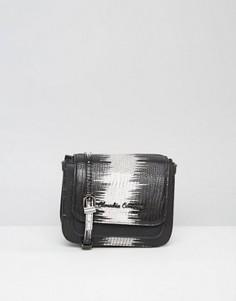 Сумка через плечо из материала под кожу ящерицы Claudia Canova - Черный