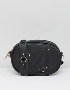 Маленькая черная сумка через плечо Versace Jeans - Черный