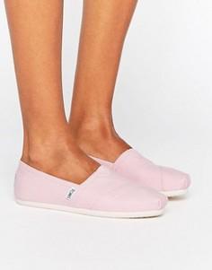 Классические розовые туфли на плоской подошве TOMS - Розовый