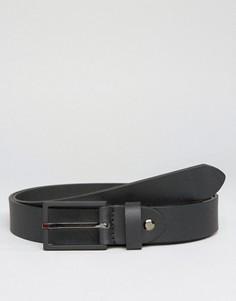 Кожаный ремень Jack & Jones - Черный