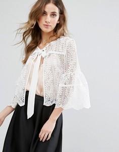 Кружевная куртка Miss Selfridge - Белый