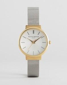 Часы с серебристым сетчатым ремешком Olivia Burton Hackney - Серебряный