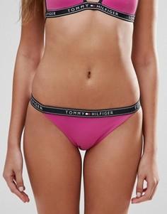 Плавки бикини с логотипом на поясе Tommy Hilfiger - Розовый