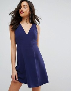 Платье-трапеция для вечеринок BCBG - Синий