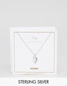 Серебряное ожерелье со знаком зодиака Дева Johnny Loves Rosie - Серебряный