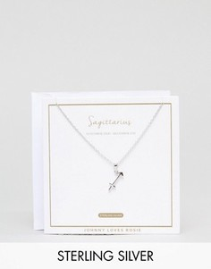 Серебряное ожерелье со знаком зодиака стрелец Johnny Loves Rosie - Серебряный