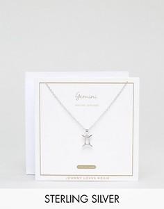 Серебряное ожерелье со знаком зодиака Близнецы Johnny Loves Rosie - Серебряный