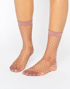 Сиреневые носки в крупную сетку ASOS - Фиолетовый