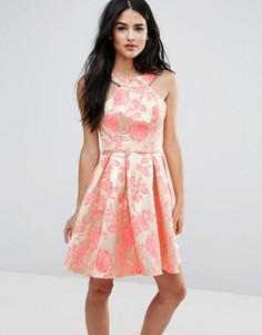 Платье со складками и принтом Forever Unique - Мульти