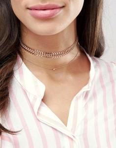 Ярусные ожерелья-чокер цвета розового золота ALDO - Золотой
