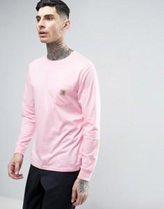 Лонгслив с карманом Carhartt WIP - Розовый