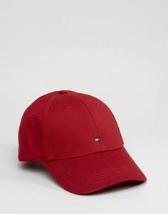 Темно-красная классическая бейсболка с флагом Tommy Hilfiger - Красный