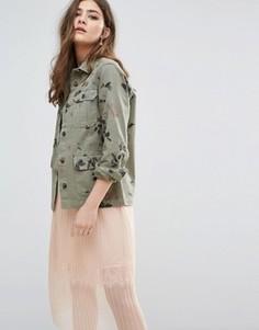 Куртка милитари с цветочным принтом Miss Selfridge - Мульти