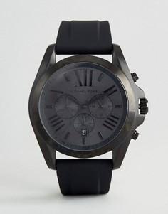 Черные часы с силиконовым ремешком Michael Kors MK8560 - Черный