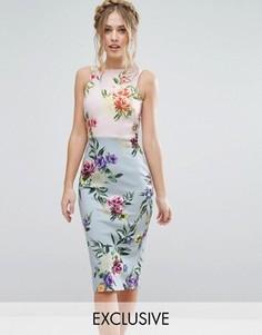 Платье-футляр с бантом на спине True Violet - Мульти