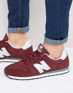 Классические боровые кроссовки New Balance 373 ML373BN - Красный