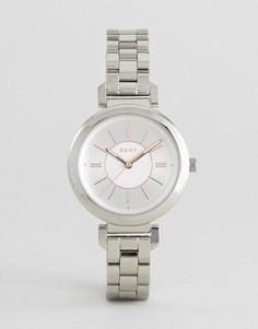 Серебристые металлические часы DKNY Ellington - Серебряный
