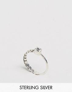 Серебряное кольцо-цепочка с камнем ASOS - Серебряный