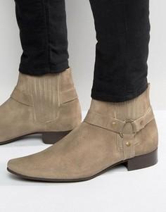 Замшевые ботинки челси с острым носом ASOS - Stone
