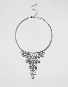 Броское ожерелье-воротник с камнями DesignB - Серебряный