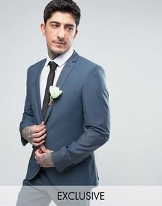 Облегающий свадебный пиджак Heart & Dagger - Синий