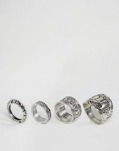 Набор колец с отделкой DesignB - Серебряный