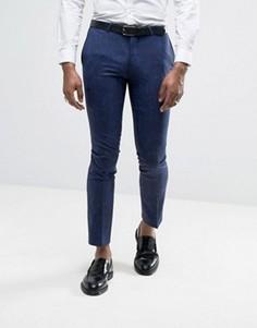 Супероблегающие брюки с принтом пейсли Noose & Monkey - Синий