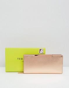 Фактурный кошелек на молнии с планкой Ted Baker - Золотой