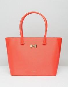 Большая сумка-шоппер с бантиком и молнией Ted Baker - Оранжевый