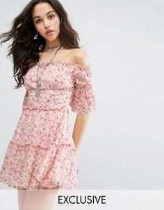 Платье мини с цветочным принтом Missguided - Мульти