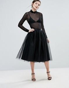 Многослойная сетчатая юбка Amy Lynn - Черный