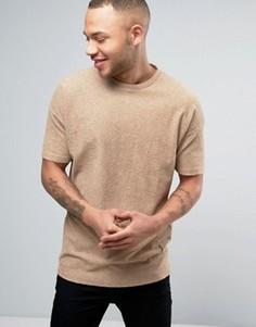 Трикотажная футболка с заниженной линией плеч Religion - Бежевый