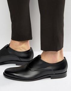 Оксфордские туфли с эластичными вставками HUGO by Hugo Boss Sigma - Черный