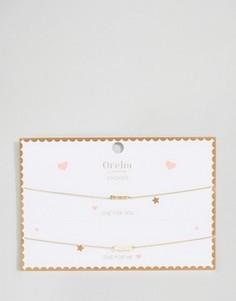 Ожерелья-чокер с делимой открыткой и подвесками Forever и Friends Orelia - Золотой