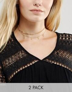 Ожерелье-чокер с подвеской Love Orelia - Золотой