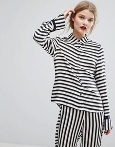 Атласная рубашка в полоску Gestuz Aggie - Мульти