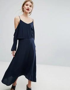 Шелковое платье Gestuz Jeannine - Темно-синий